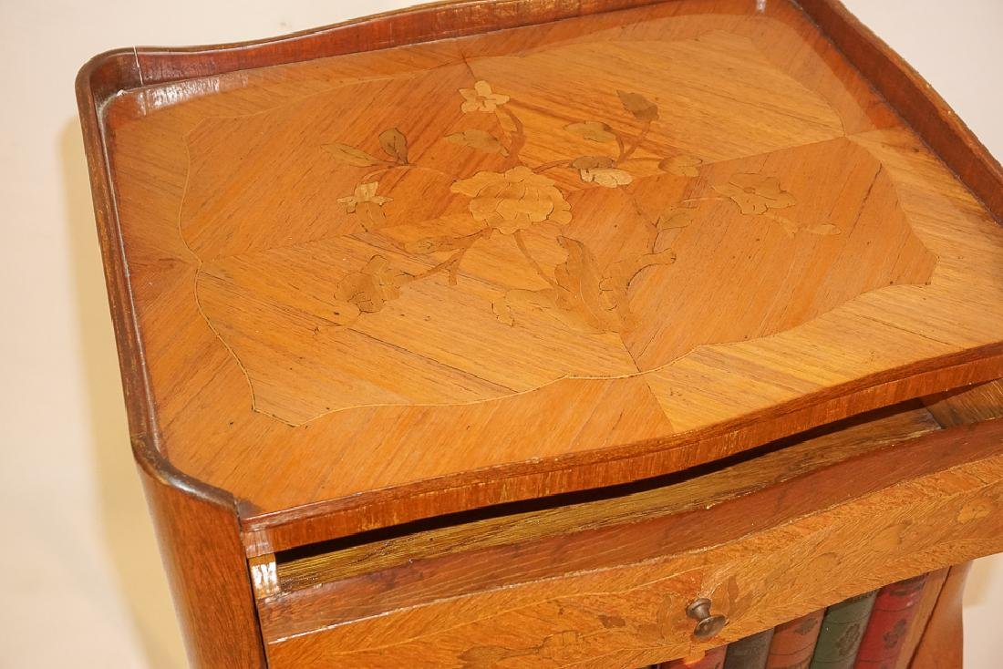 Diminutive French Marquetry Side Table - 5