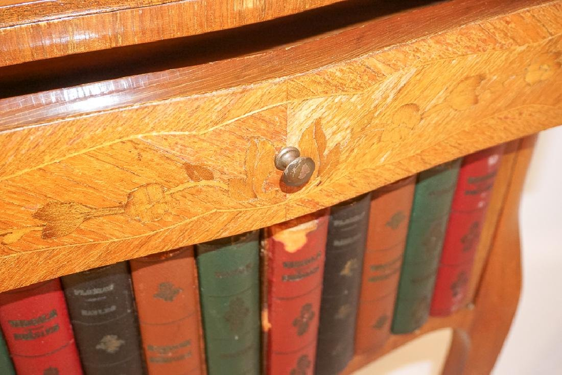 Diminutive French Marquetry Side Table - 6