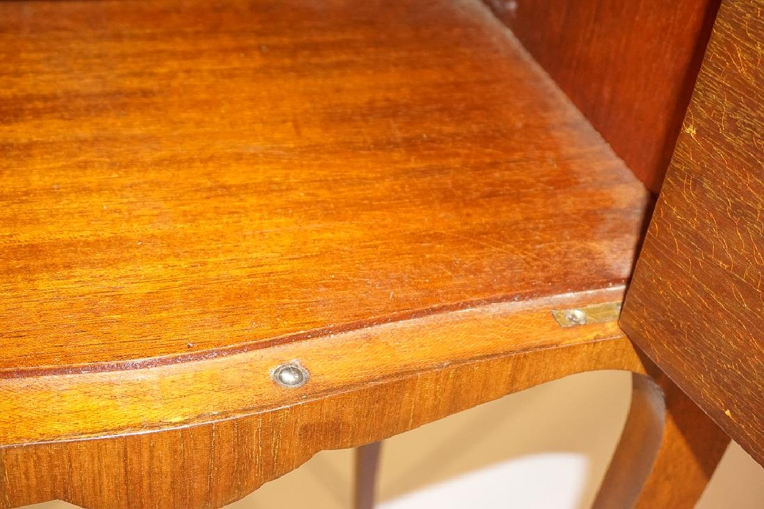 Diminutive French Marquetry Side Table - 9