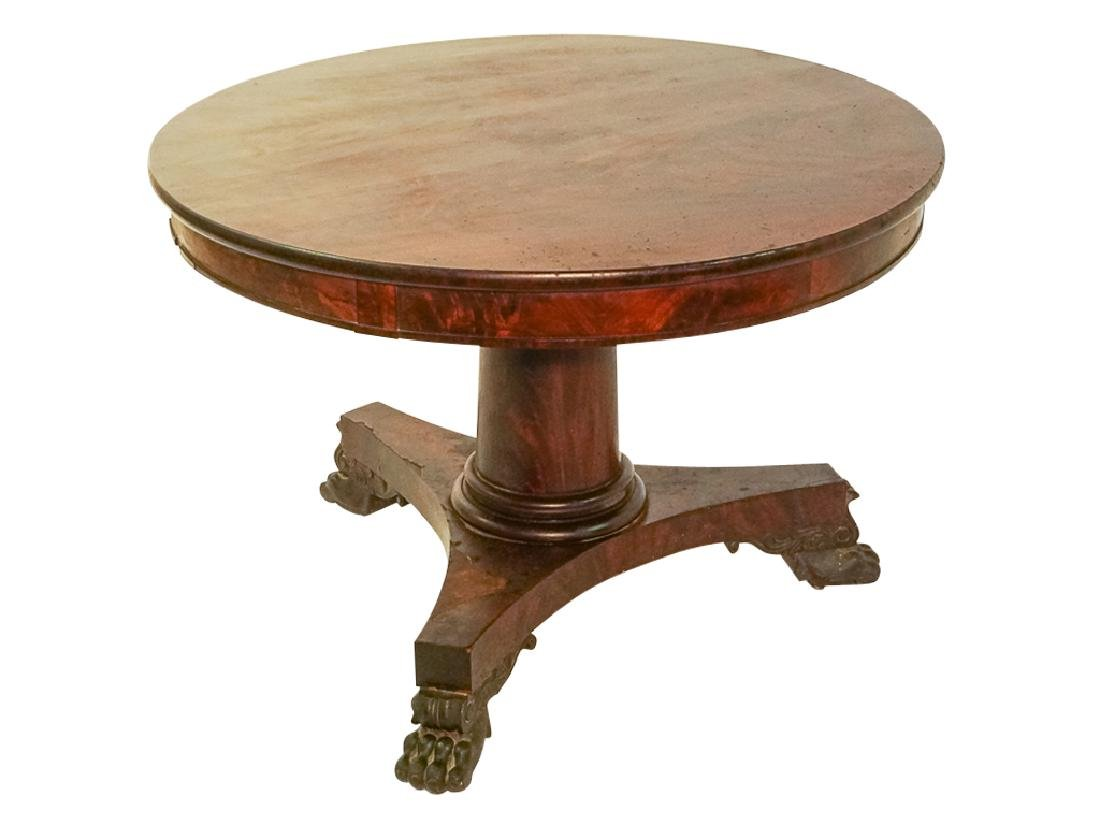 19th c American Classical Center Table