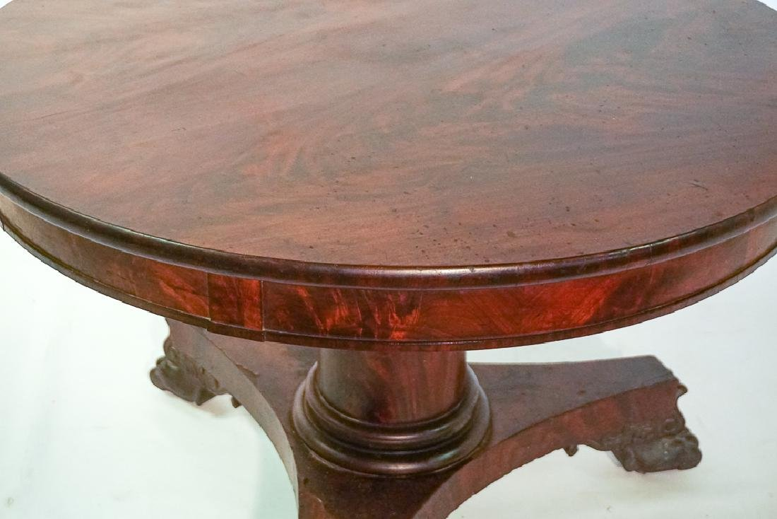 19th c American Classical Center Table - 3