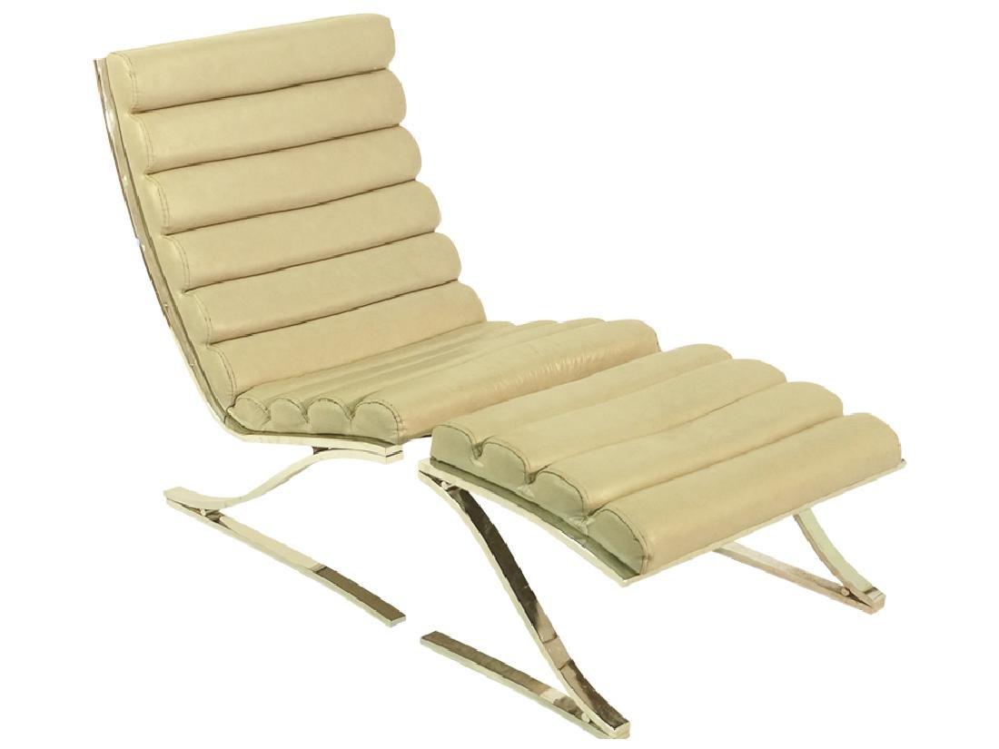 Mid Century Chrome Lounge Chair