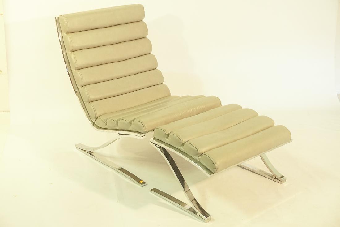 Mid Century Chrome Lounge Chair - 2