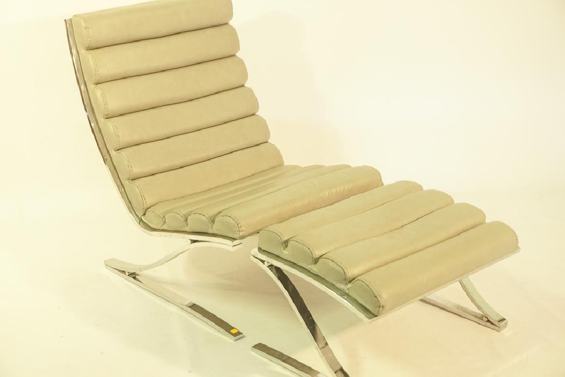 Mid Century Chrome Lounge Chair - 3