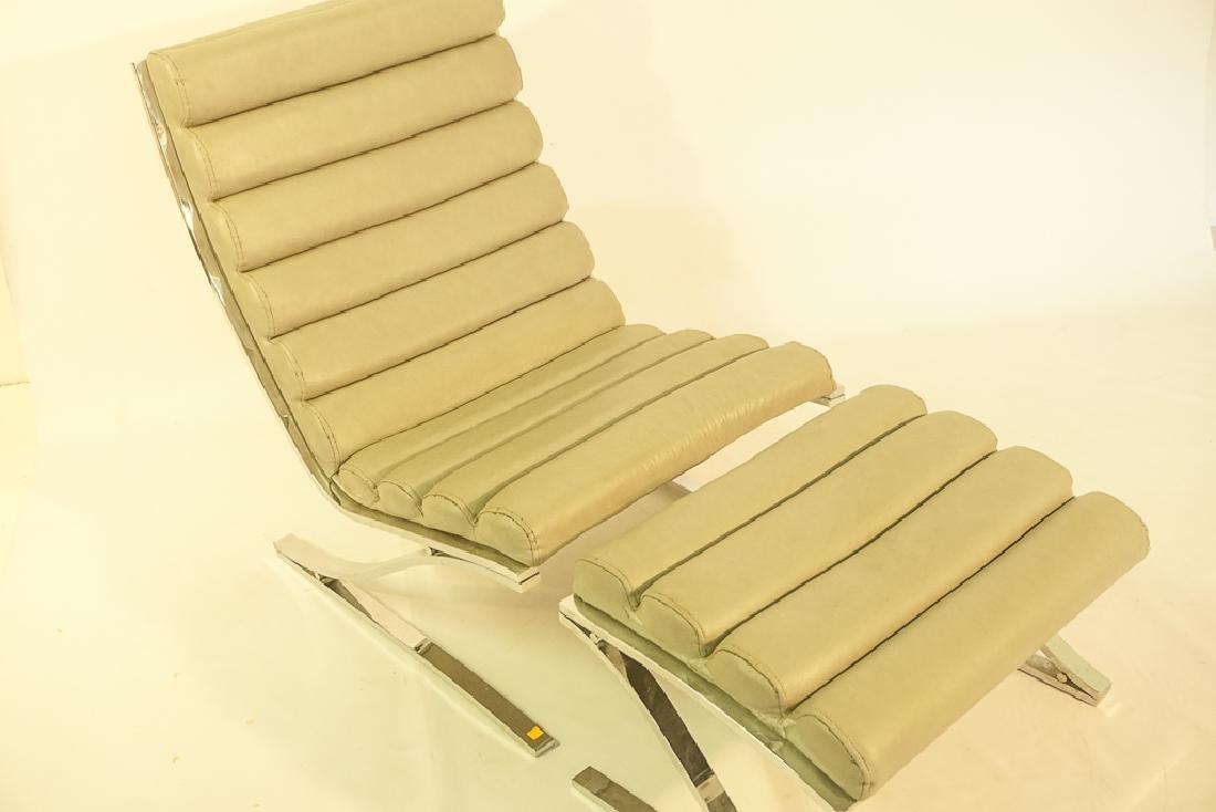 Mid Century Chrome Lounge Chair - 4