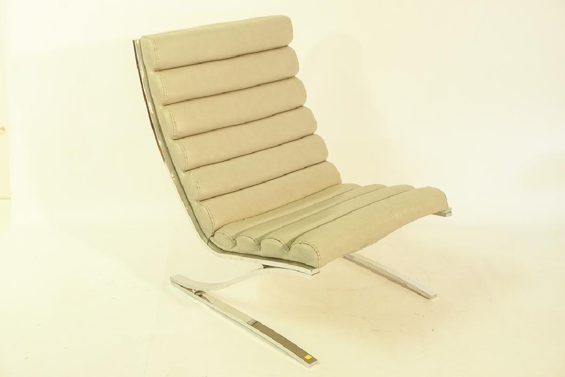 Mid Century Chrome Lounge Chair - 5