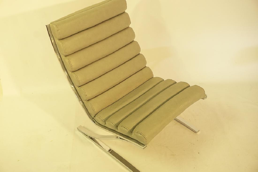 Mid Century Chrome Lounge Chair - 6
