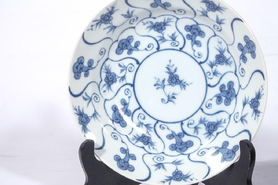 Set 12 Chinese Porcelain Blue/White Plates - 6