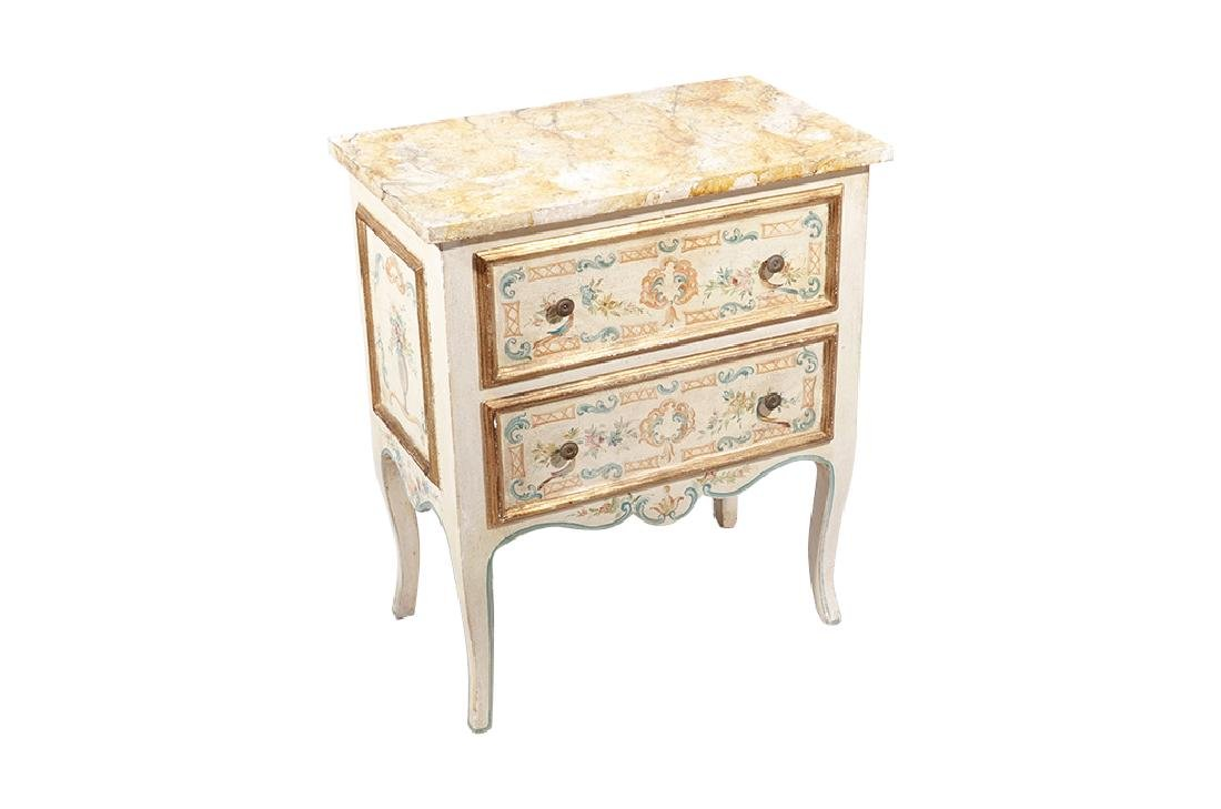 Italian Style Faux Painted Commode