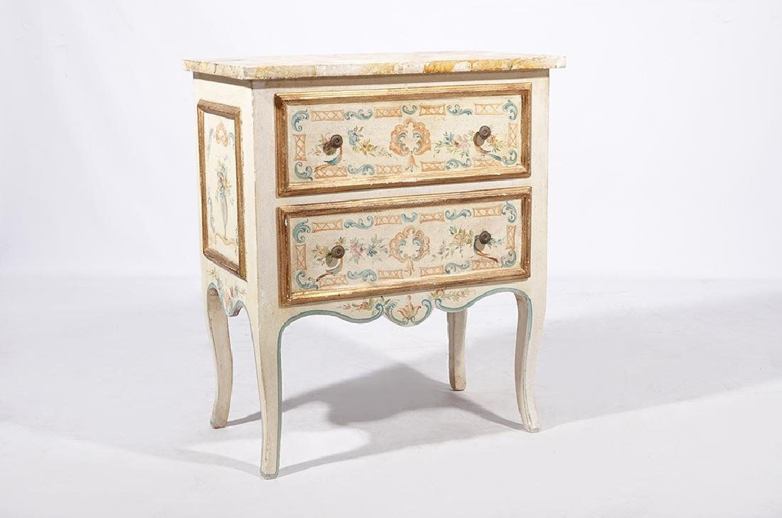 Italian Style Faux Painted Commode - 2