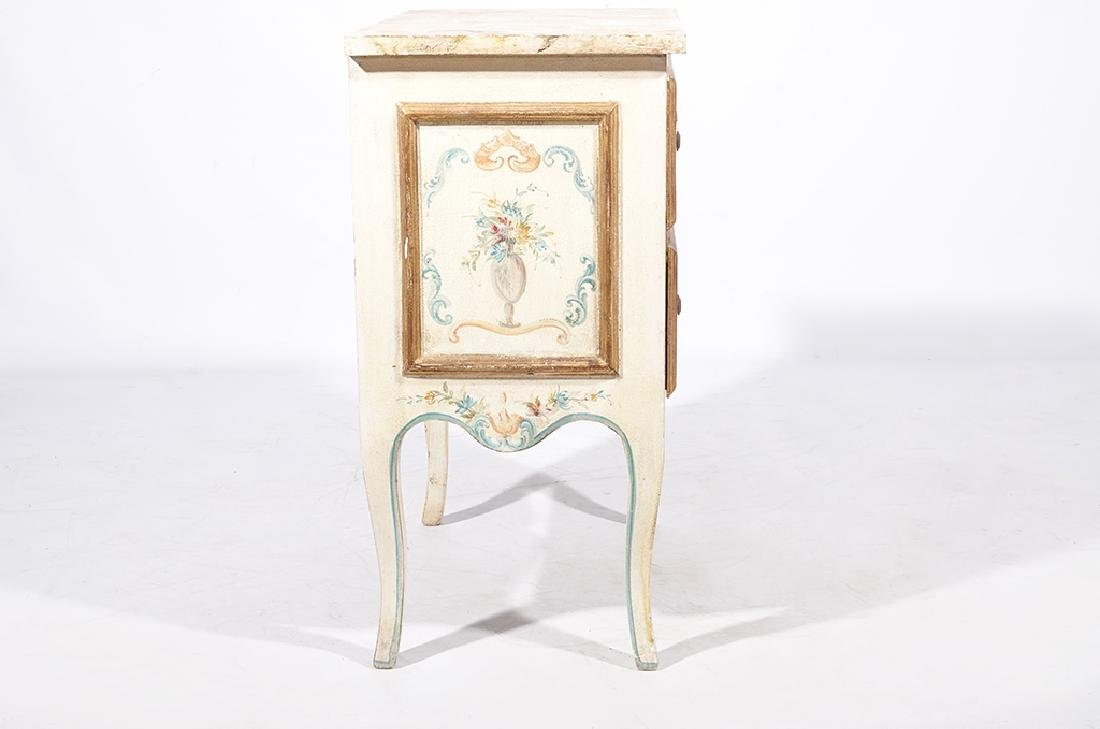 Italian Style Faux Painted Commode - 3