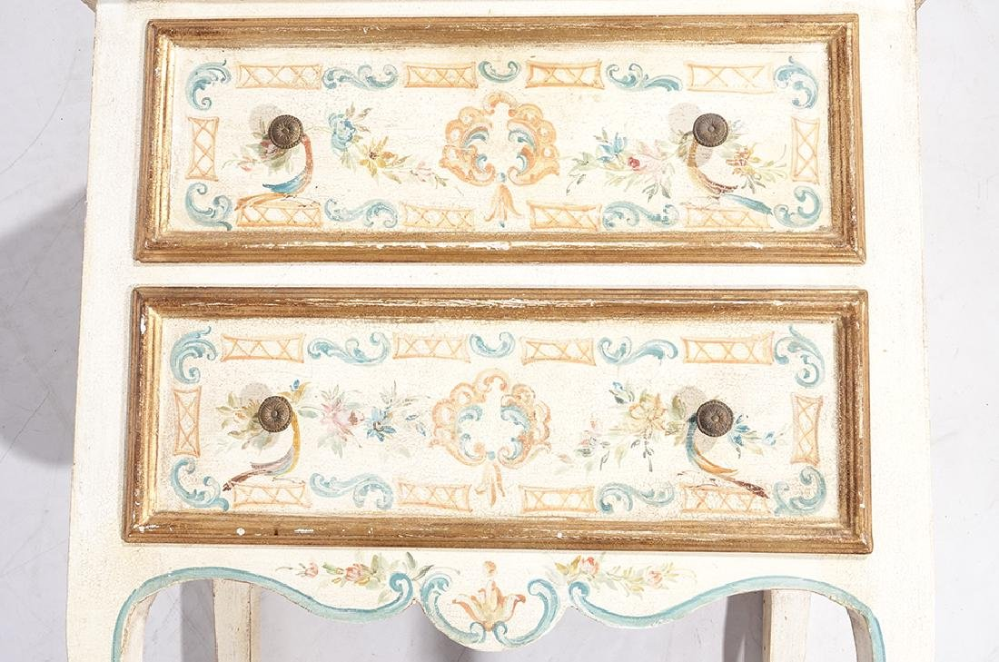 Italian Style Faux Painted Commode - 4
