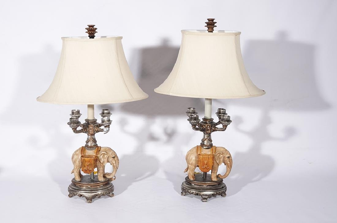 Pair of Novelty Elephant Lamps - 2