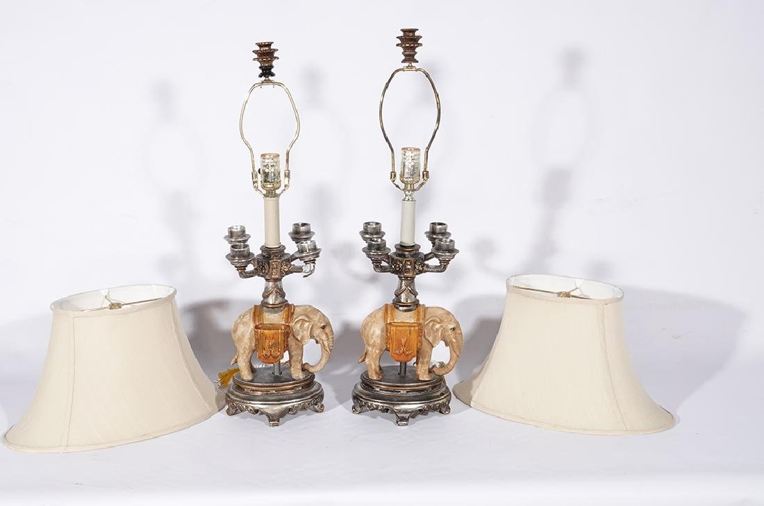 Pair of Novelty Elephant Lamps - 4