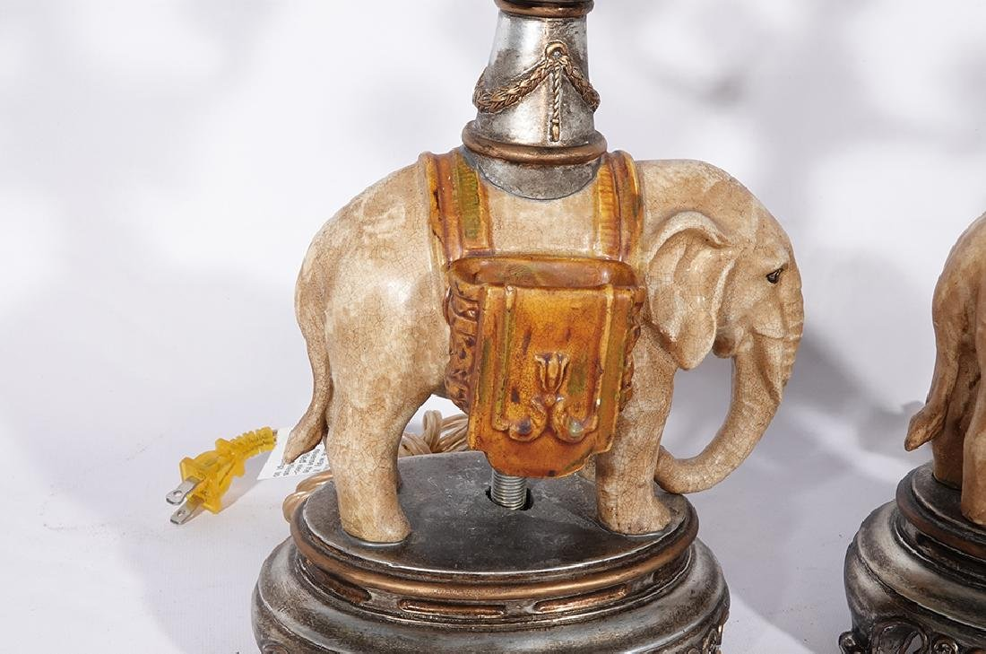 Pair of Novelty Elephant Lamps - 6