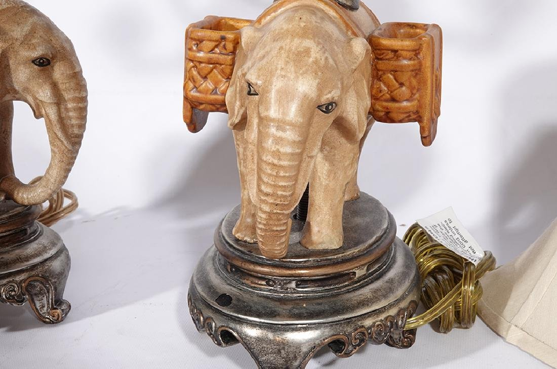 Pair of Novelty Elephant Lamps - 9
