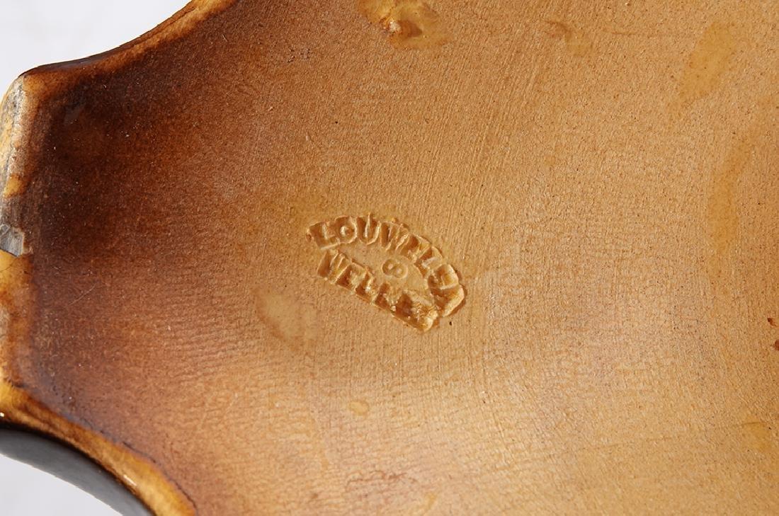 Antique WELLER Pottery Louwelsa Umbrella Stand - 3