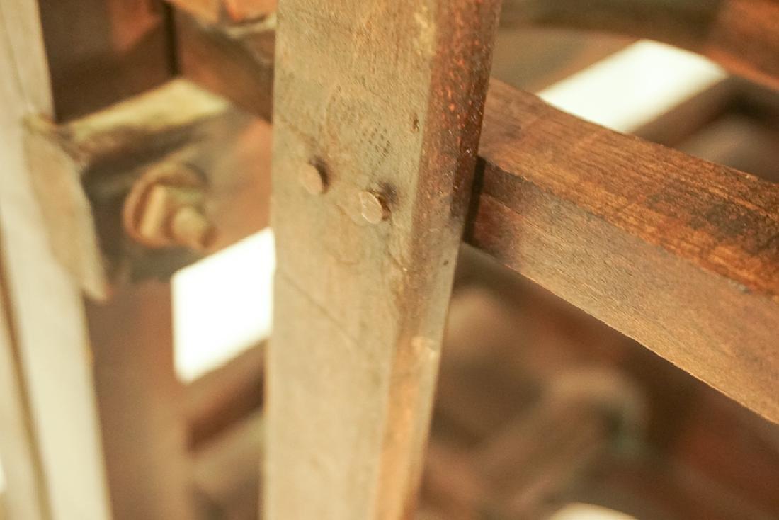 Vintage Wooden Boot Rack - 10