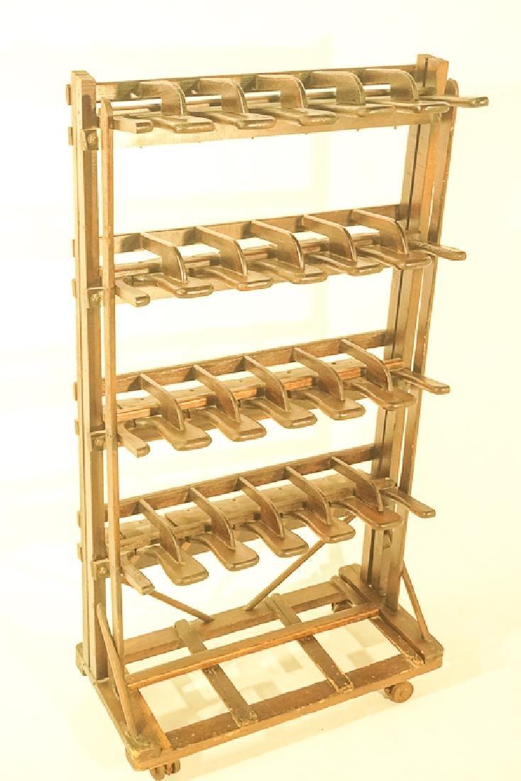 Vintage Wooden Boot Rack - 2