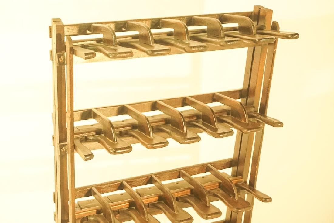 Vintage Wooden Boot Rack - 3