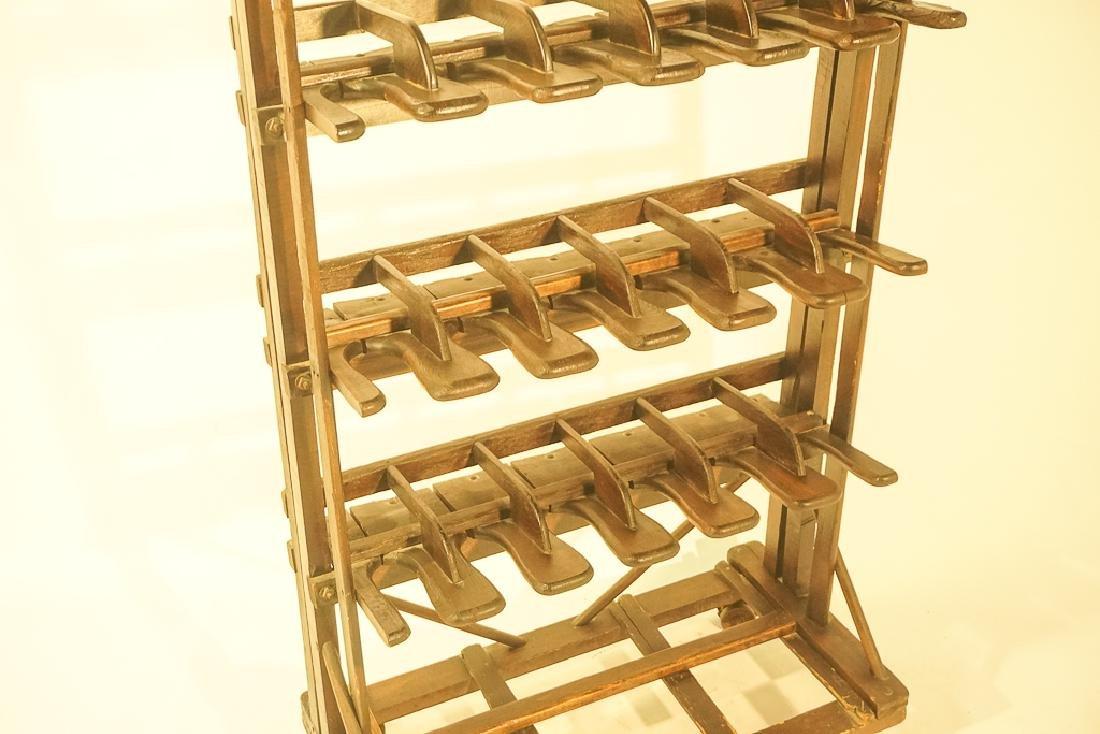 Vintage Wooden Boot Rack - 4