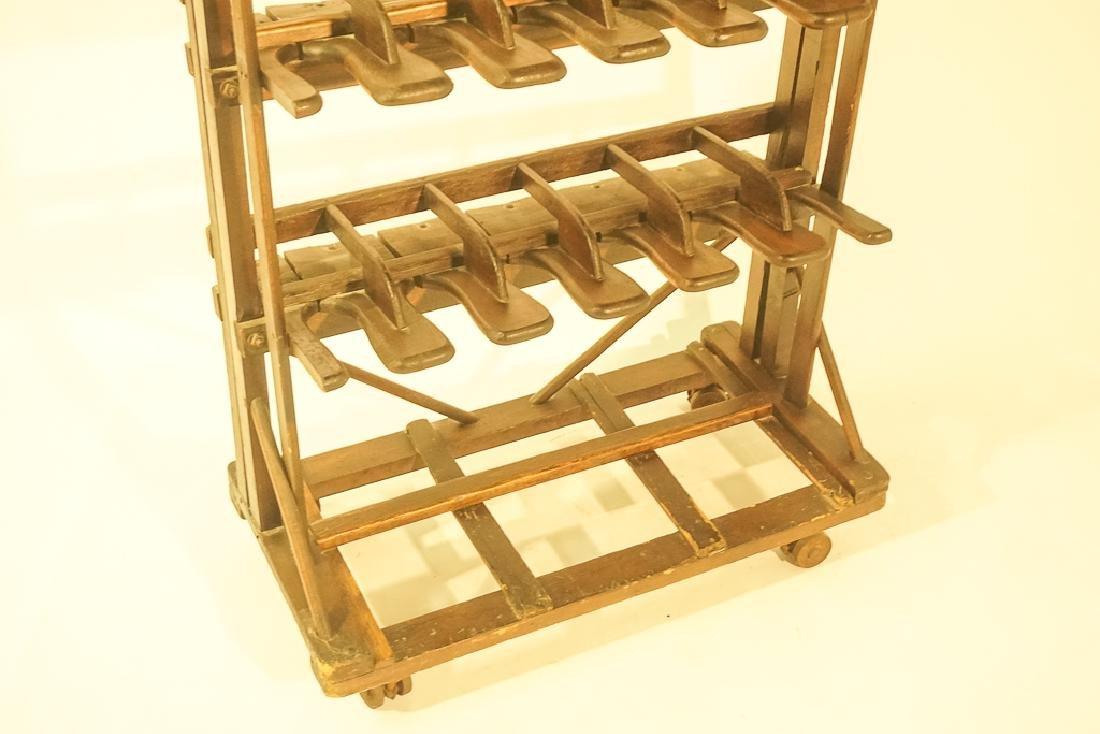 Vintage Wooden Boot Rack - 5