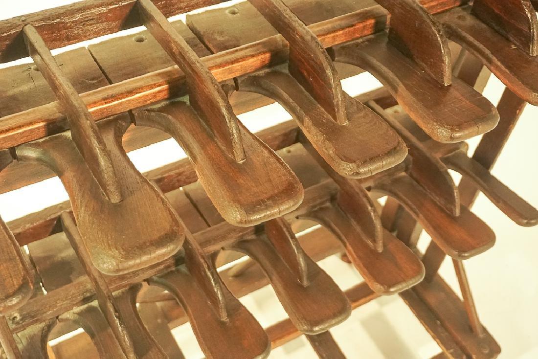 Vintage Wooden Boot Rack - 7