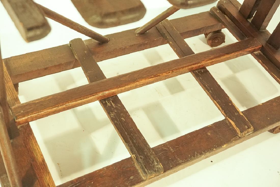 Vintage Wooden Boot Rack - 8