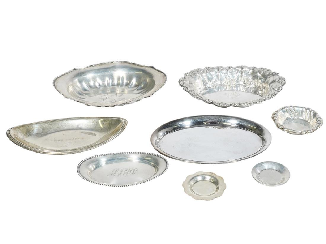 Lot Sterling & .835 Silver Plates /  Dishes