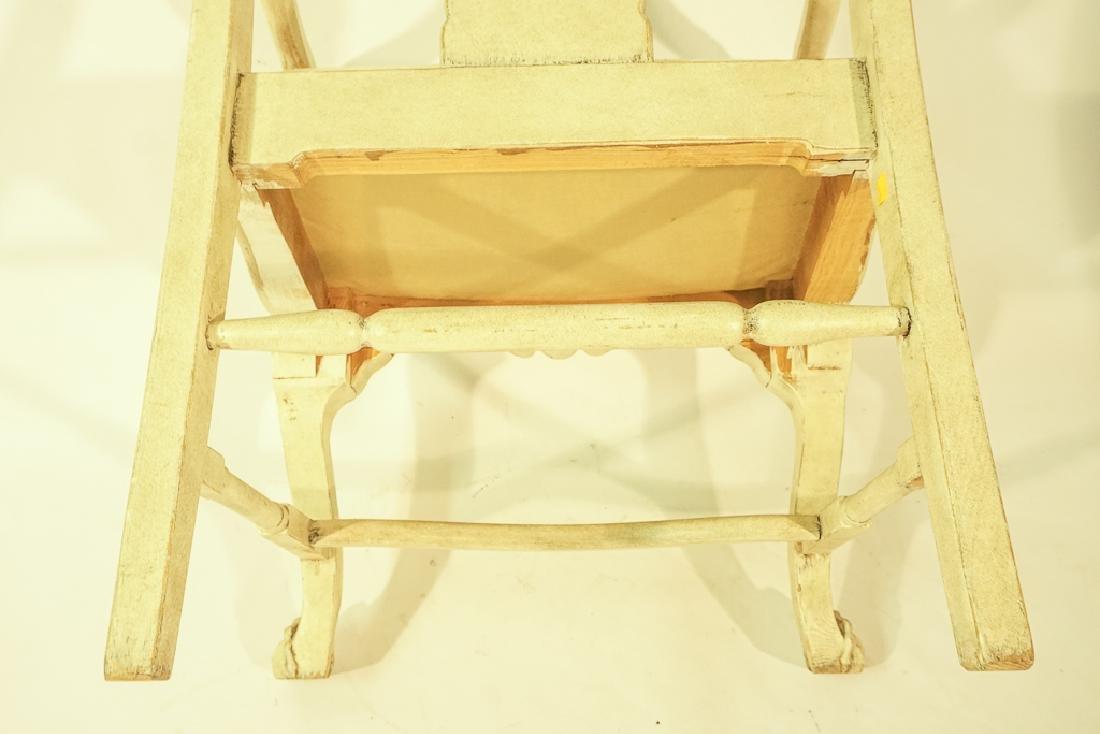 Swedish Gustavian Style White Painted Armchair - 10