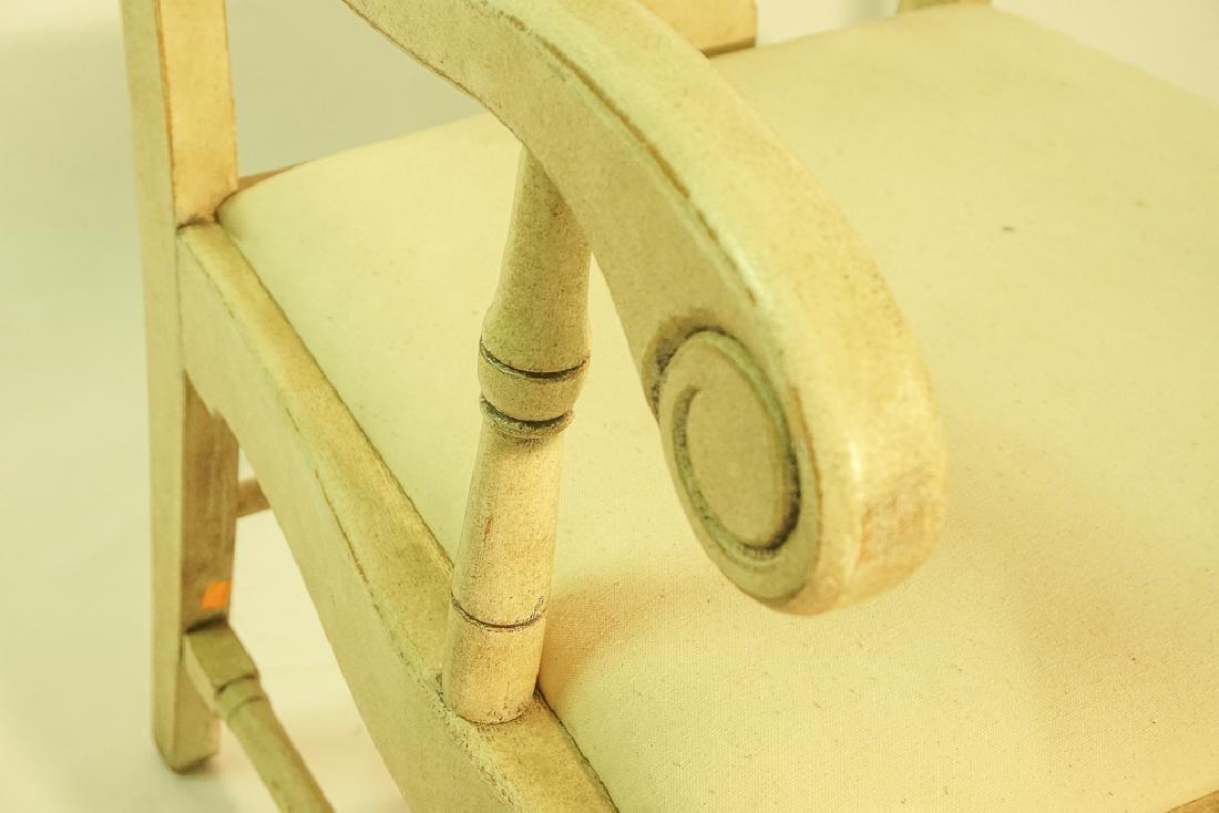 Swedish Gustavian Style White Painted Armchair - 6