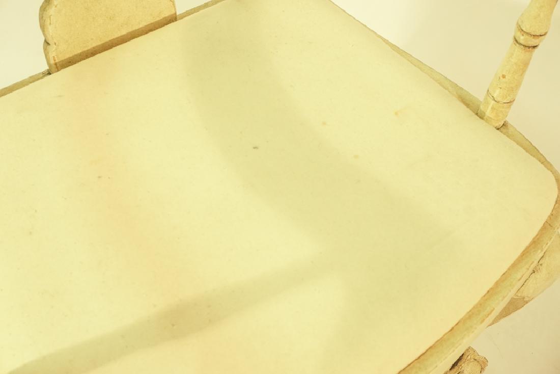 Swedish Gustavian Style White Painted Armchair - 7