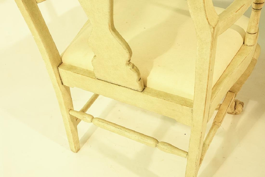 Swedish Gustavian Style White Painted Armchair - 9
