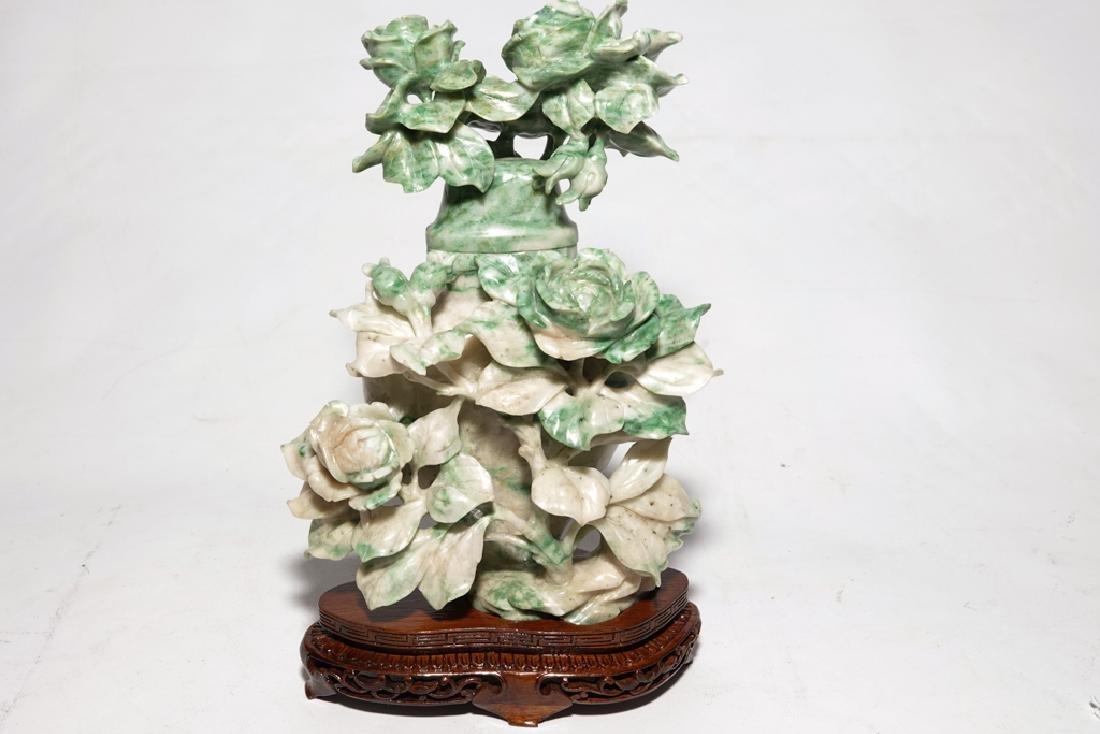 Chinese Jadeite  Urn with Lid
