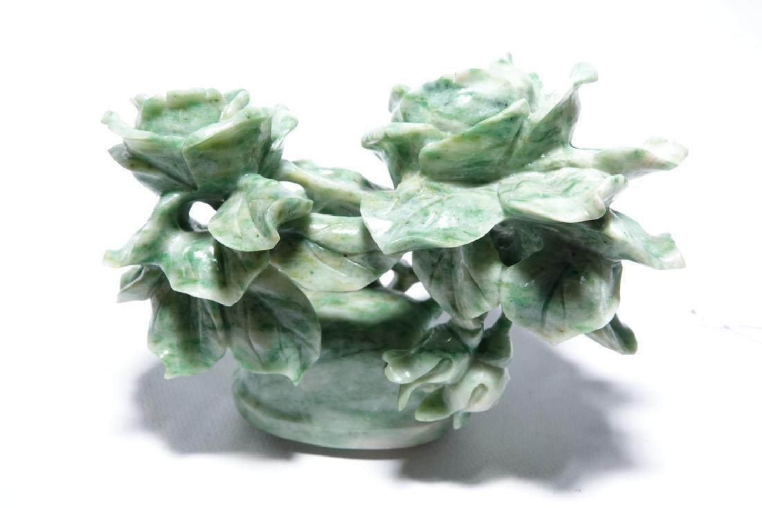 Chinese Jadeite  Urn with Lid - 4
