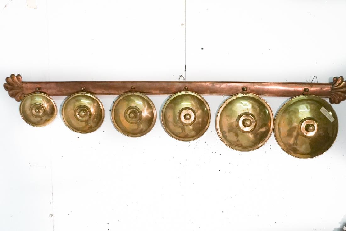 French Copper Pot Lid Holder