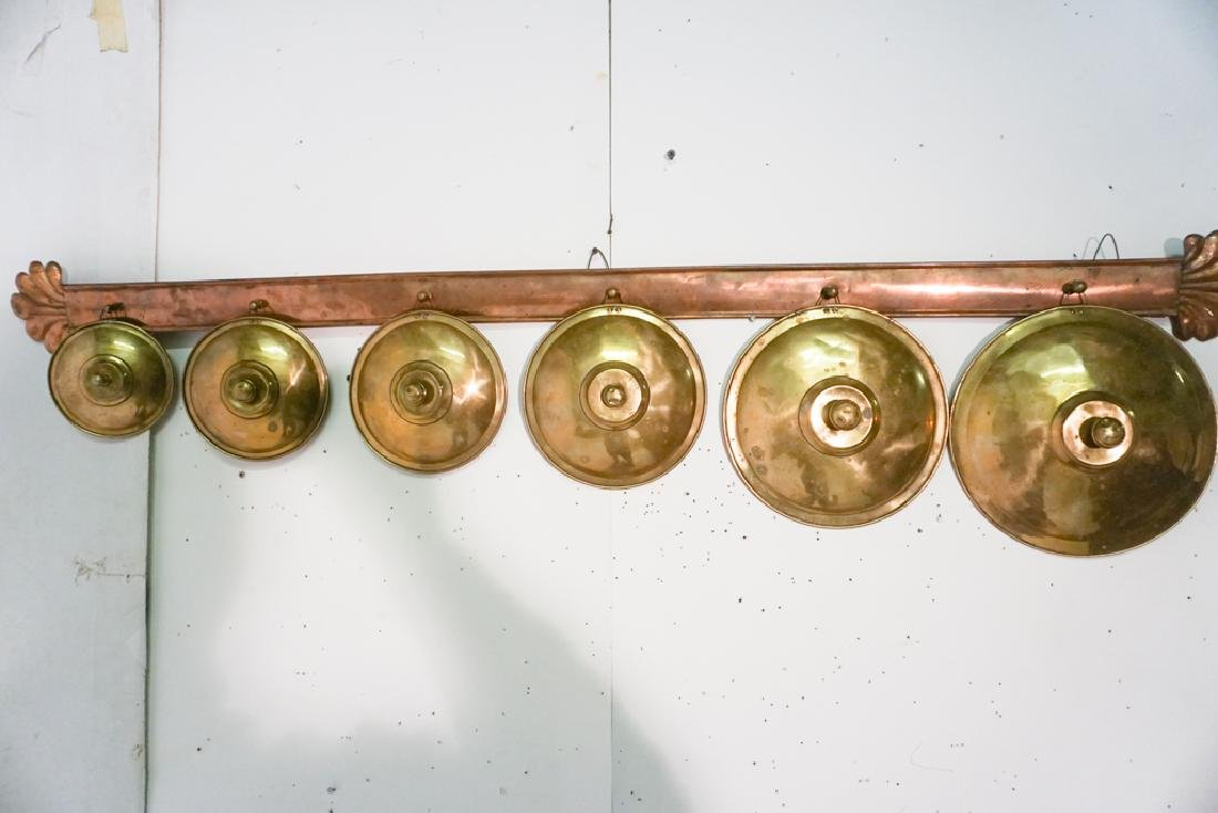 French Copper Pot Lid Holder - 7
