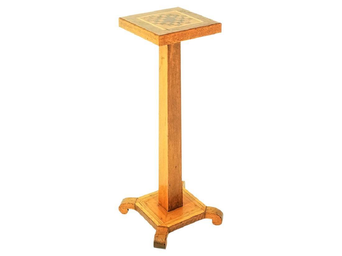 Tramp Art Style Pedestal