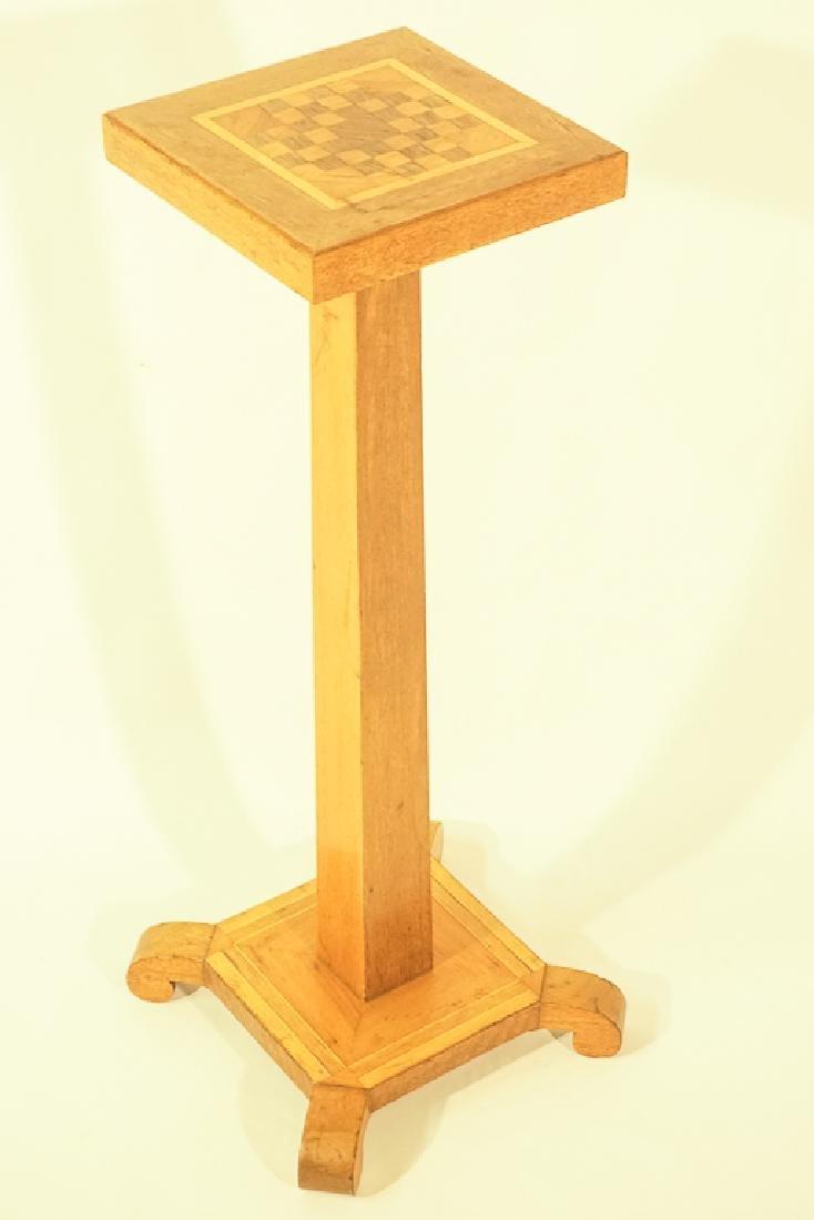 Tramp Art Style Pedestal - 2