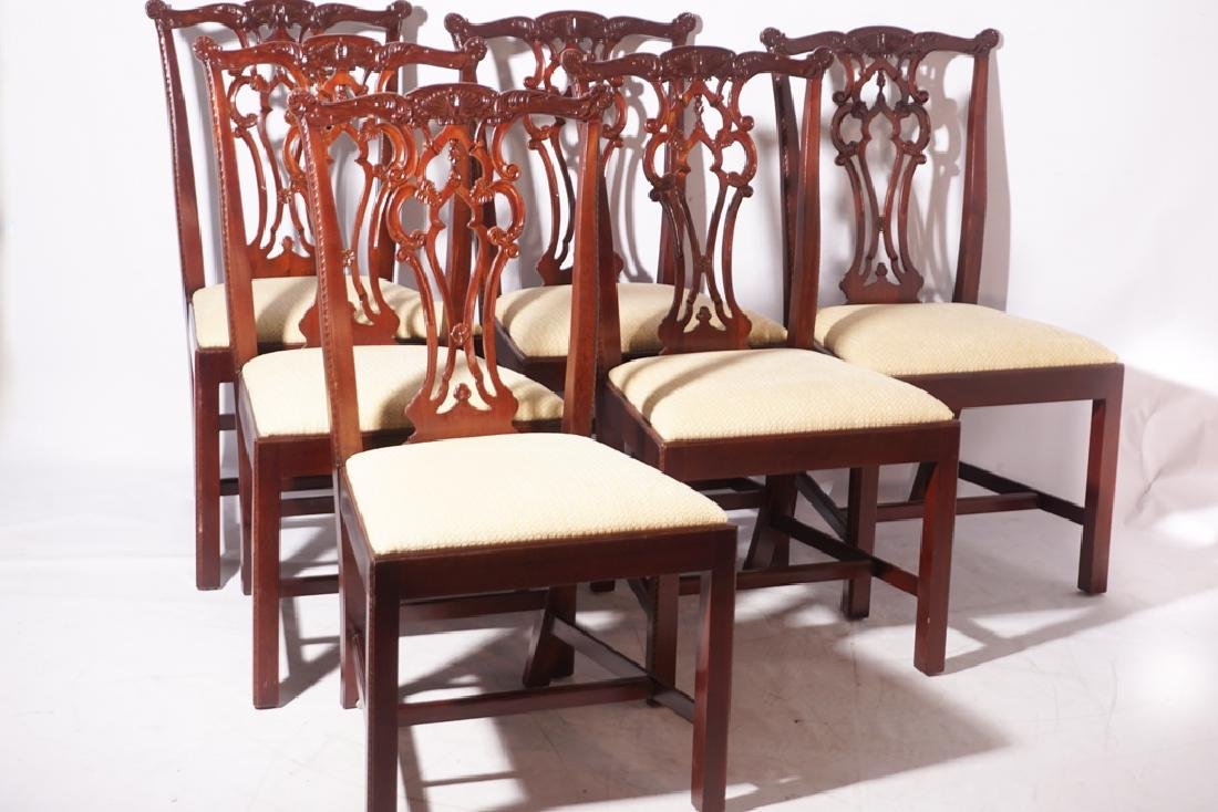 Set of Six HICKORY CHAIR  Dining or Side Chairs