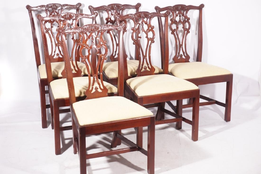 Set of Six HICKORY CHAIR  Dining or Side Chairs - 9
