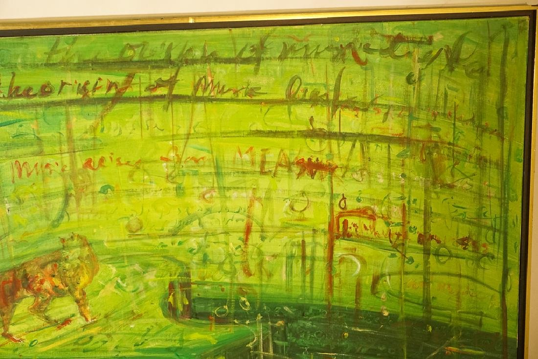 Contemporary School, Large Green Abstract - 5