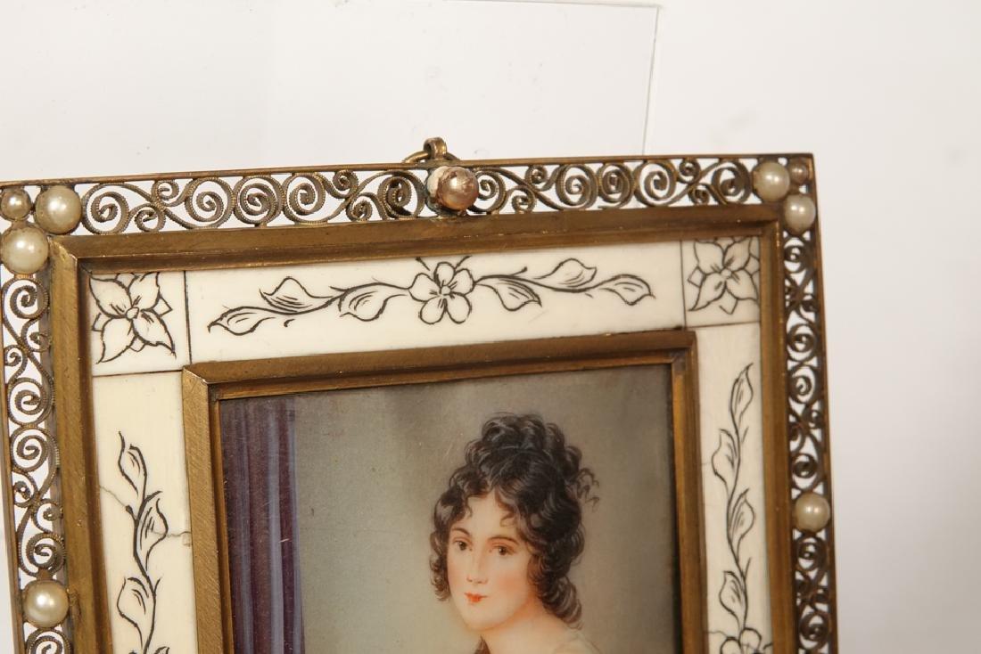 Portrait Miniature of a Woman - 6