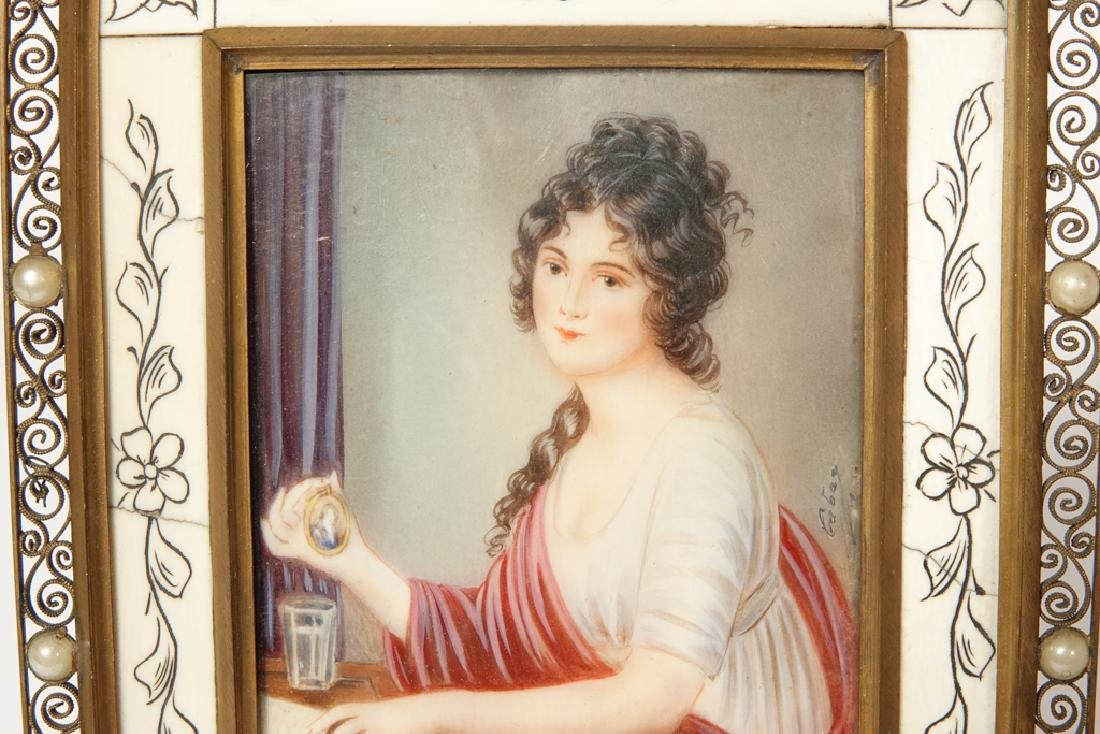 Portrait Miniature of a Woman - 8