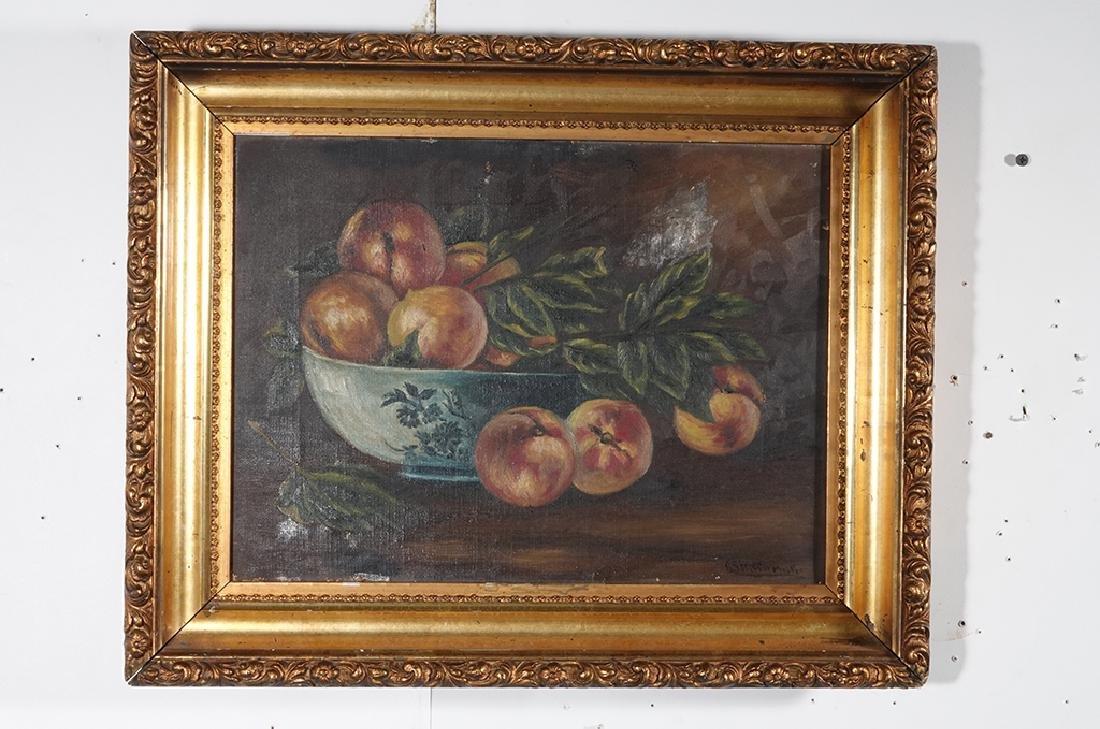 "19th c School, ""Still Life of Peaches"" - 10"