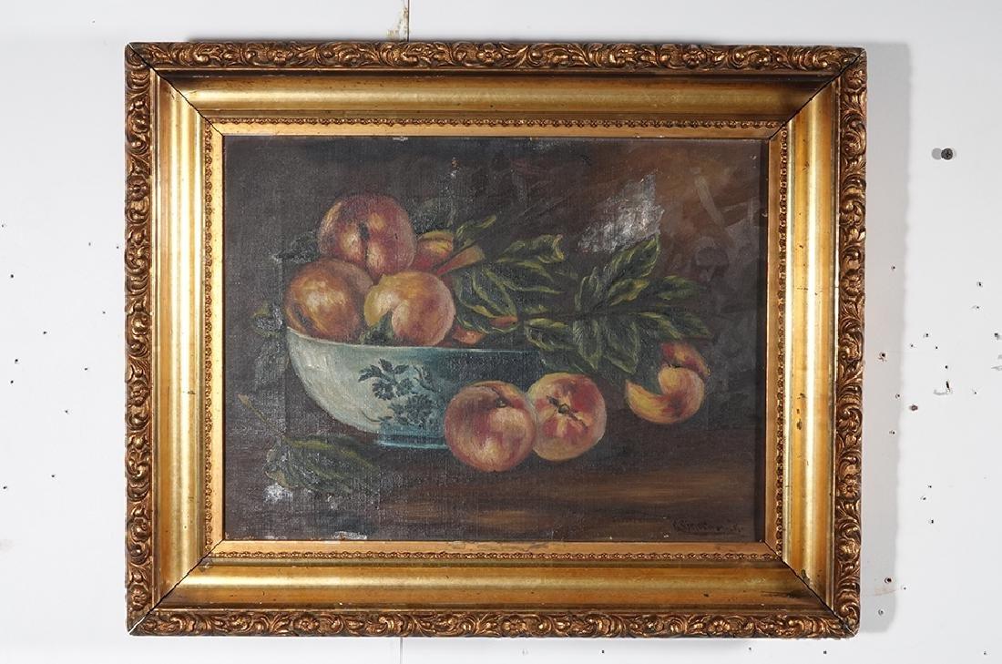 "19th c School, ""Still Life of Peaches"" - 3"