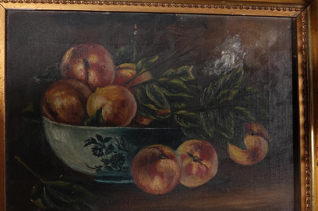 "19th c School, ""Still Life of Peaches"" - 5"