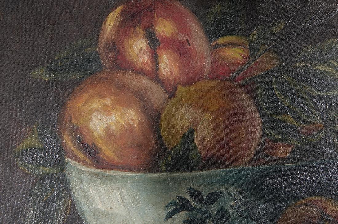 "19th c School, ""Still Life of Peaches"" - 6"