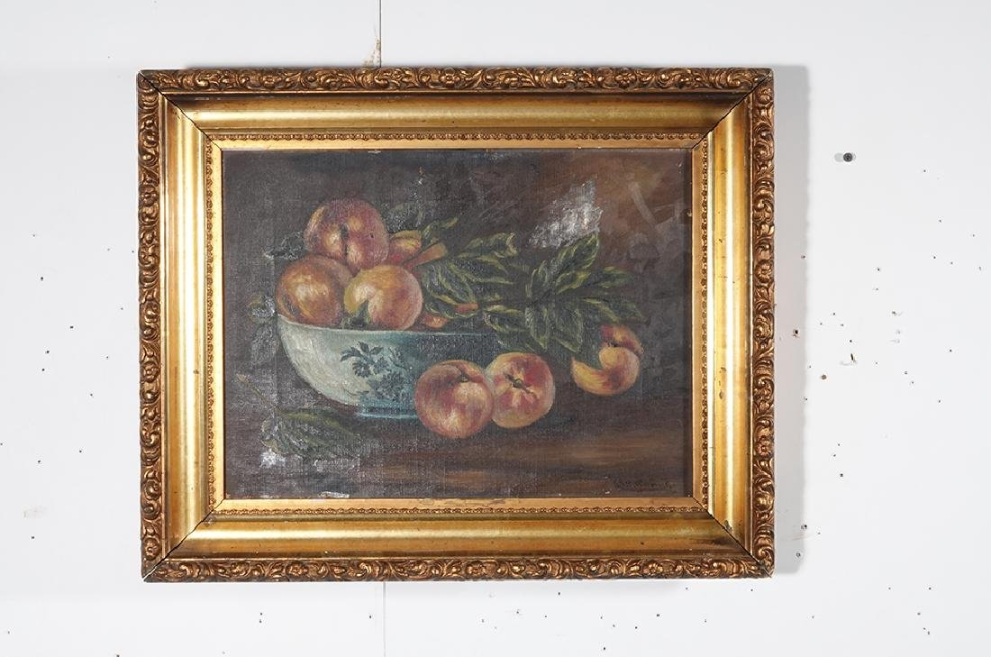 "19th c School, ""Still Life of Peaches"" - 9"