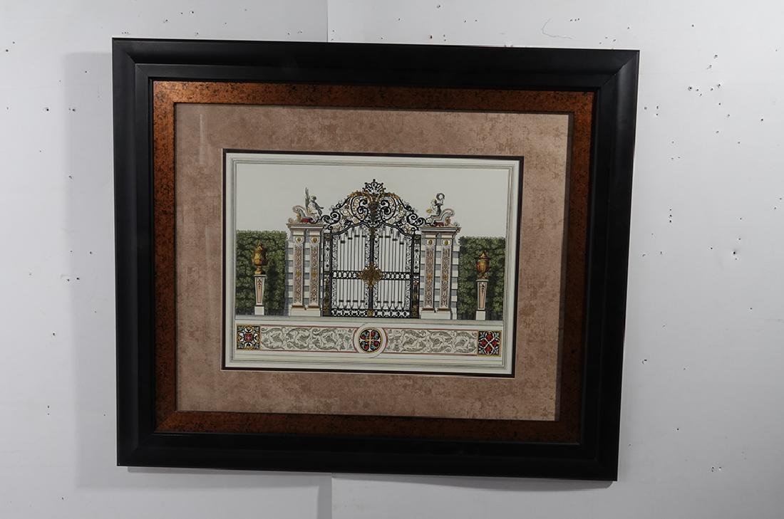 Pair Framed  Engravings of  Gates - 10
